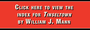 Left hand banner - click here to view the index for tinseltown