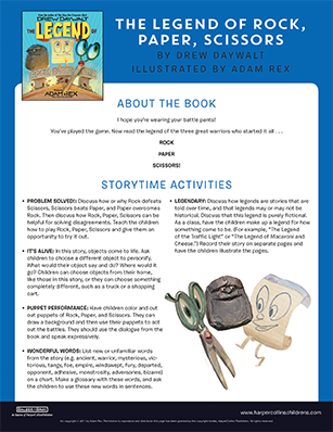 Storytime activities download PDF