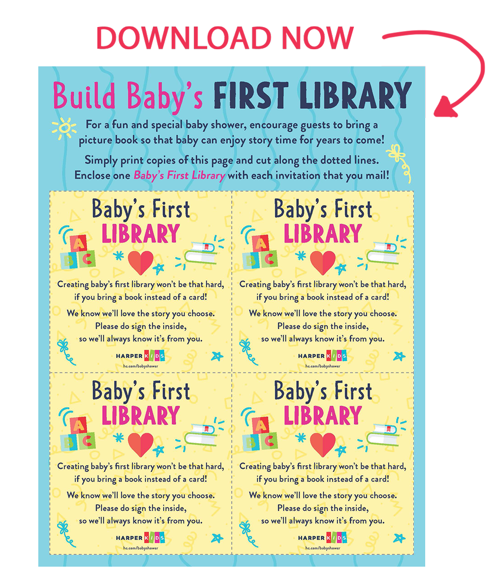 photograph about Baby Book Printable known as Babys 1st Library - HarperCollins Childrens Publications