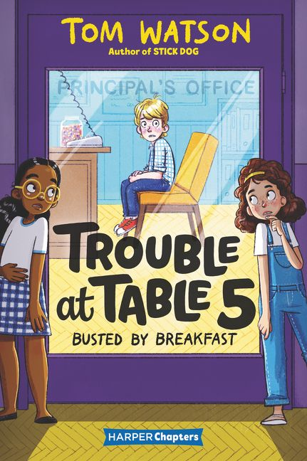 trouble at table five: busted by breakfast