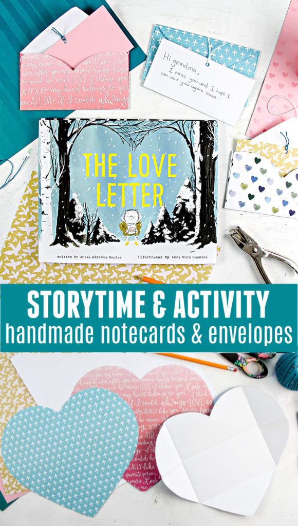 How to Make Your Own DIY Love Letter - Storytime & Activity, handmade notecards and envelopes