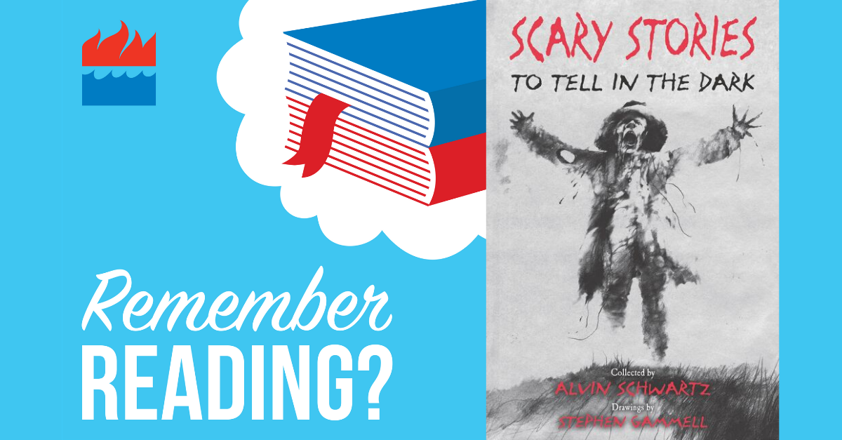 remember reading podcast Scary Stories to Tell in the Dark by Alvin Schwartz