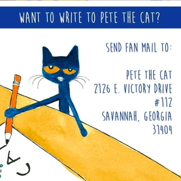 Send fanmail to Pete the Cat!