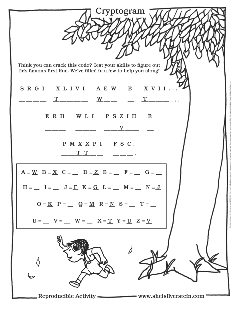 The Giving Tree Cryptogram Code