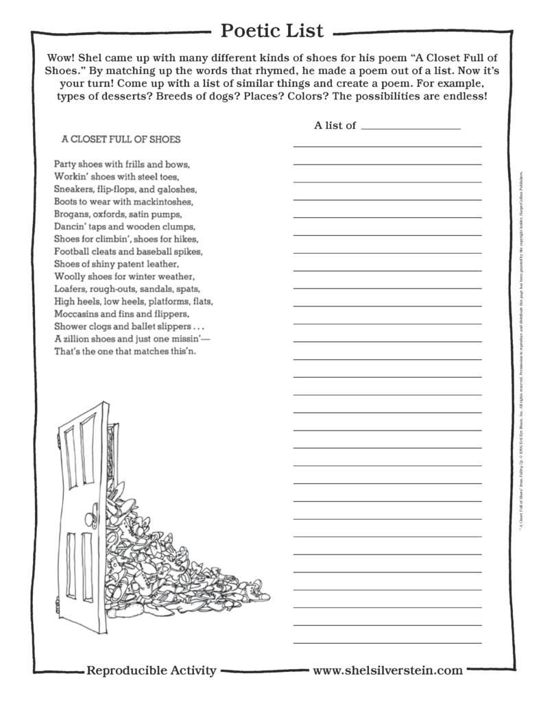 Create a List Poem