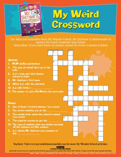 My Weird Crossword