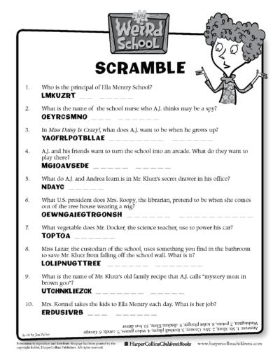 My Weird School Scramble