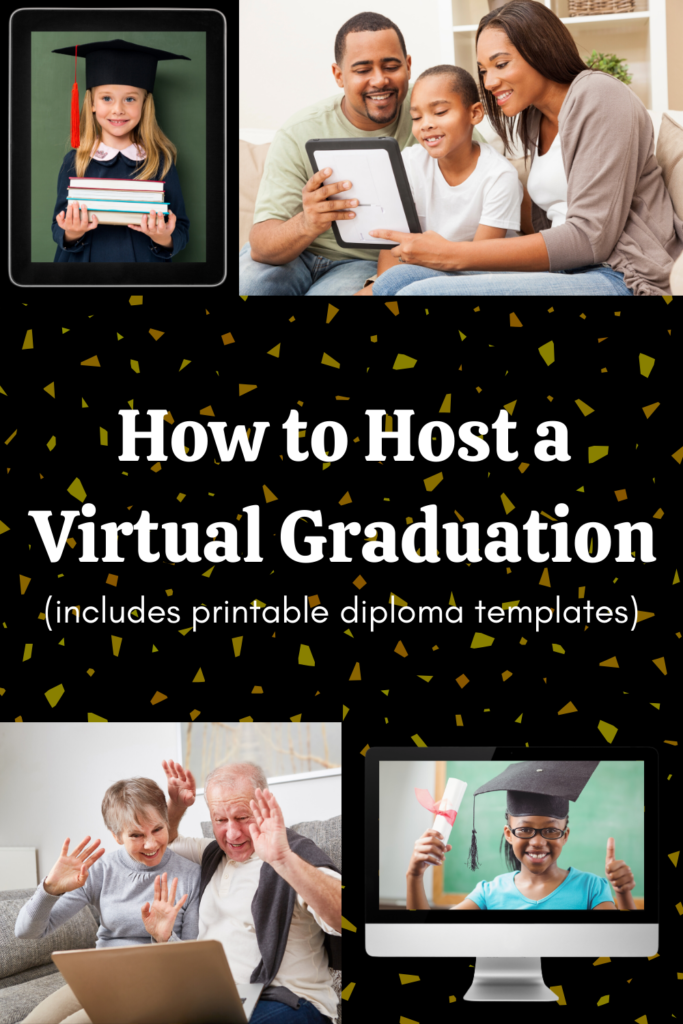 How to Host A Virtual Graduation Experience That Truly Honors Your Young One - includes printable diplomas featuring Pete the Cat, Frog & Toad, and I Believe I Can